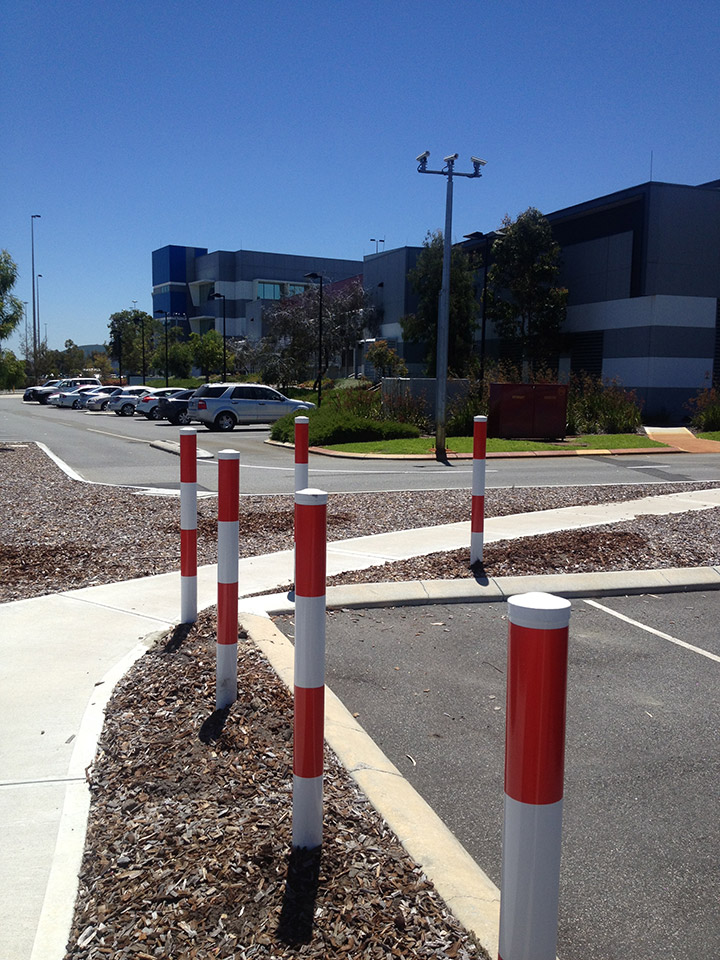 Bollards installed Near The Streets in Perth