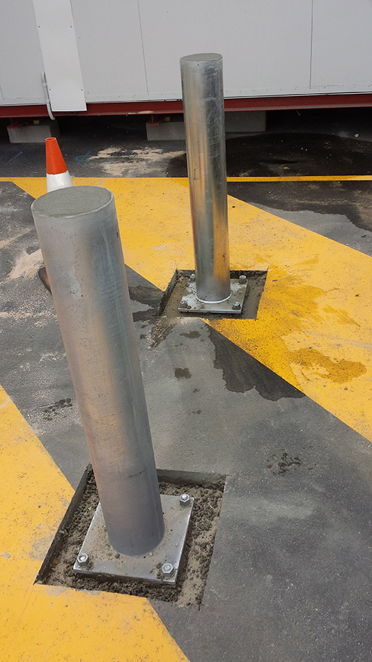 high quality fixed bollards installed in Perth Australia
