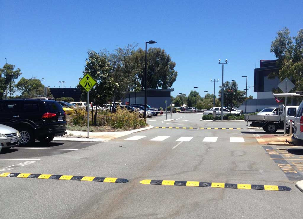 Rubber Speed humps Installed On Roads In Perth