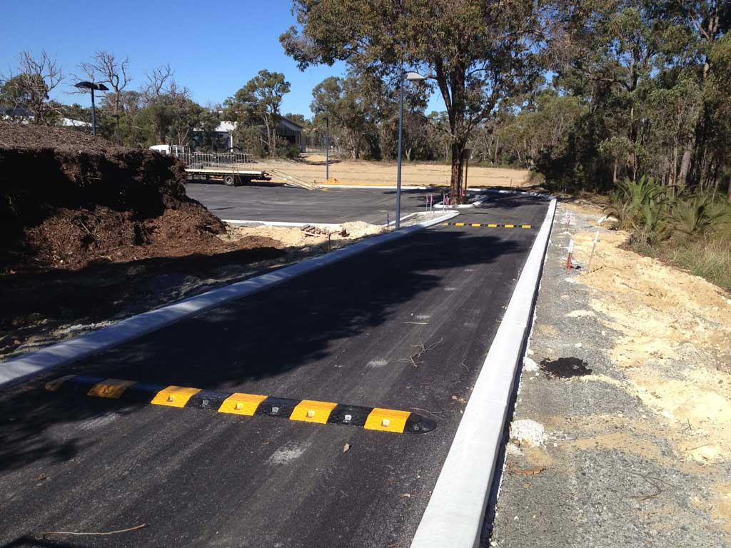 Speed humps installed in Perth Driveways