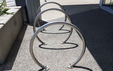 Bicycle parking racks installed in Perth